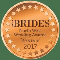 Winner of Brides North west wedding award 2017