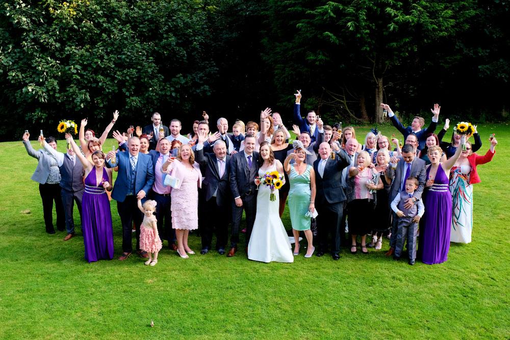 Wedding party outside photos