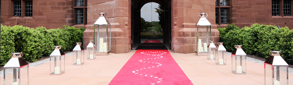 Love Red Carpet entrance to Abbey House Hotel