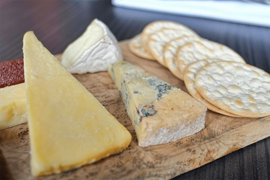 cheese board with crackers