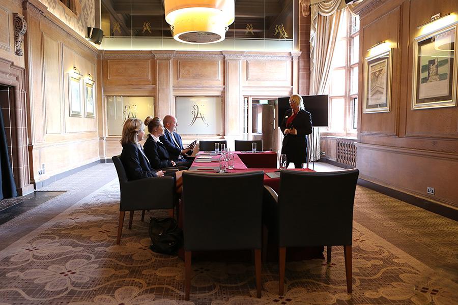 Meeting taking place