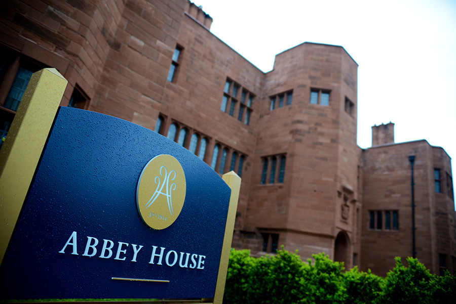 Abbey house sign
