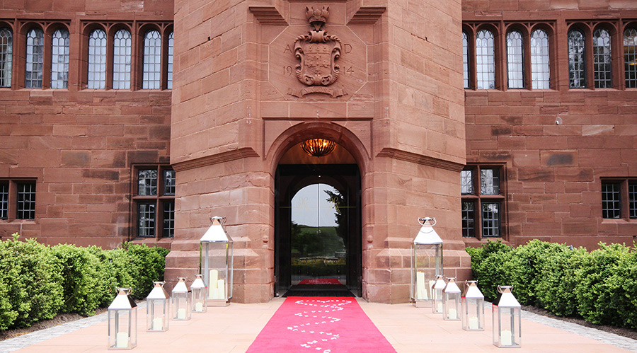 Wedding red carpet entrance