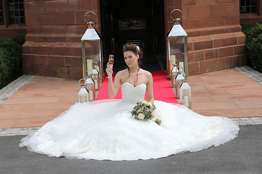 Bride on perfect wedding day