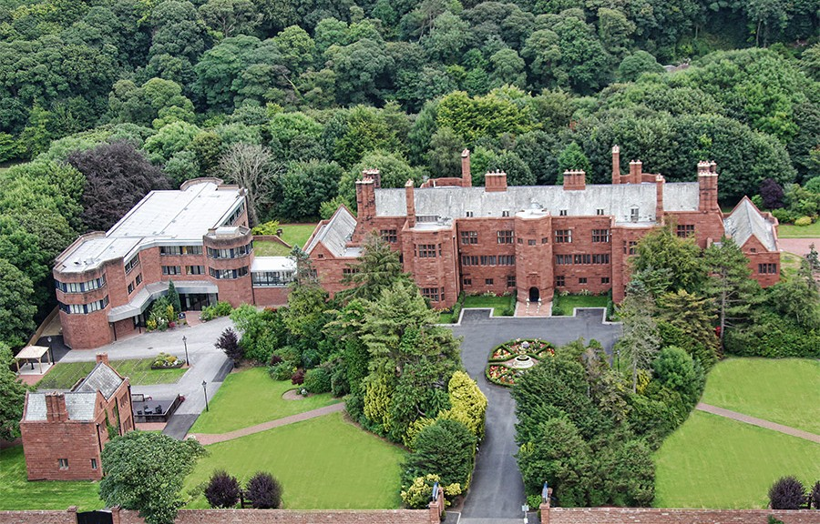 Abbey House From Air on Careers Page