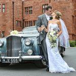 wedding with car
