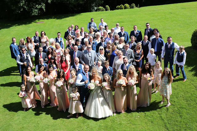 Whole wedding party at Abbey House Hotel