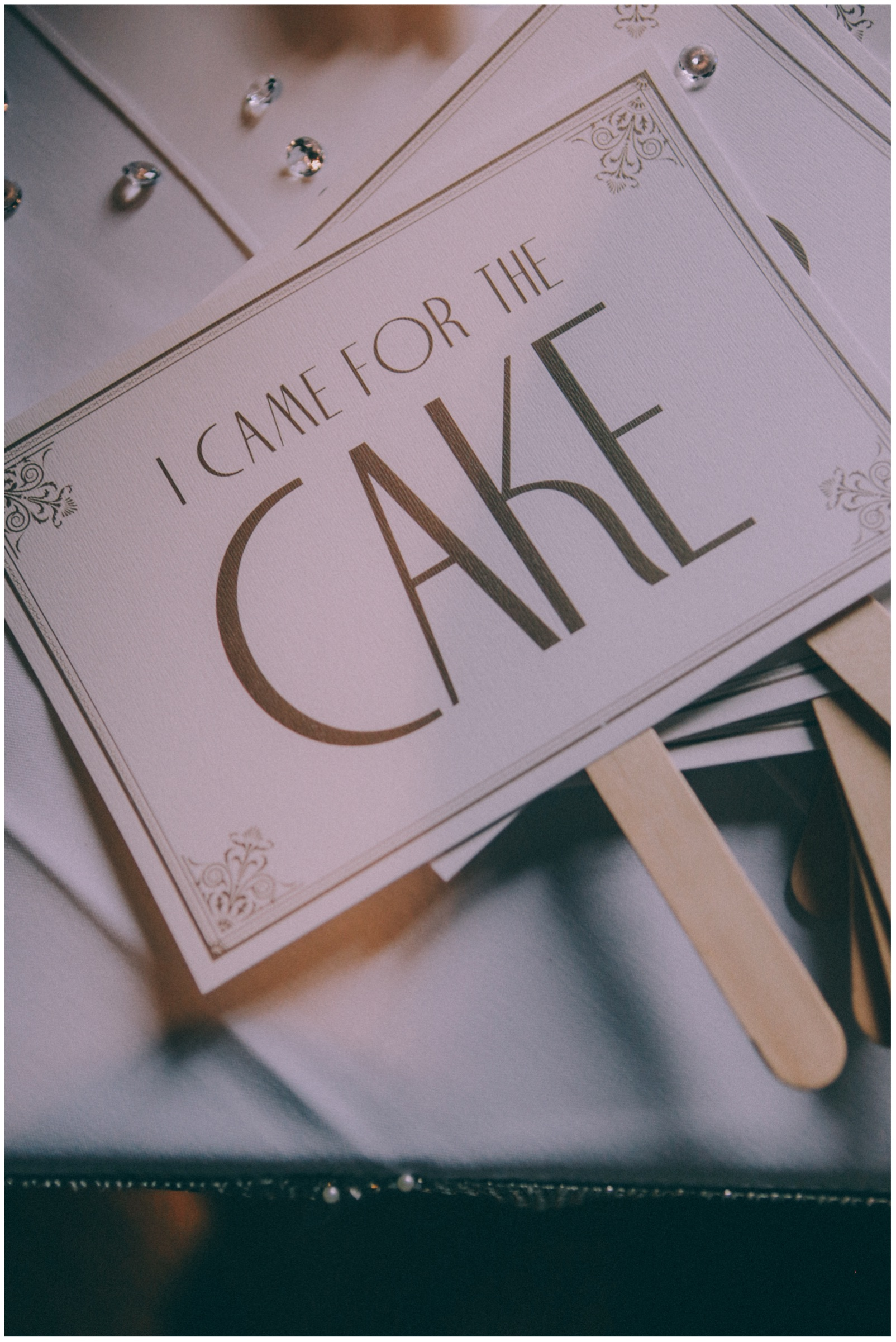 I came for cake sign