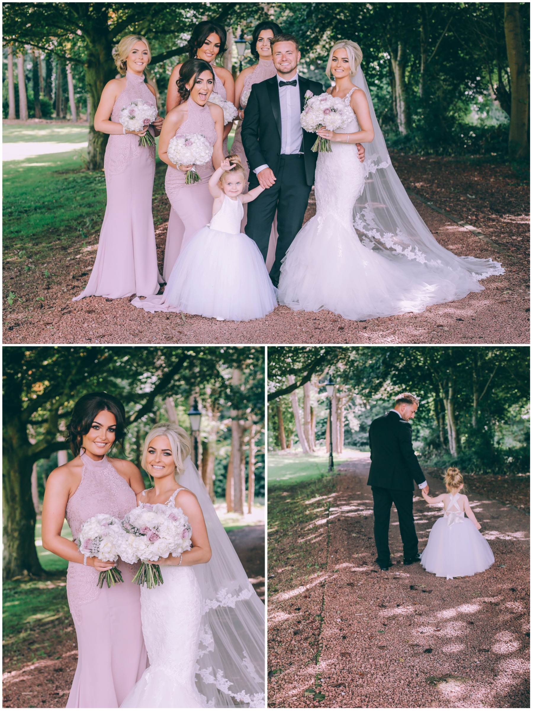 Wedding party outside photography