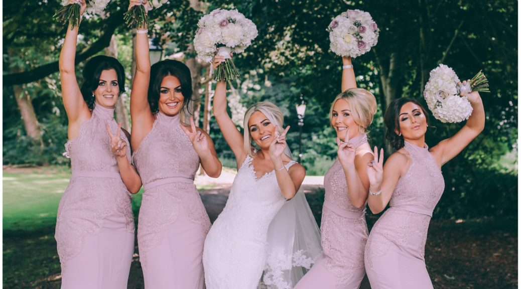 bridal party outside photography