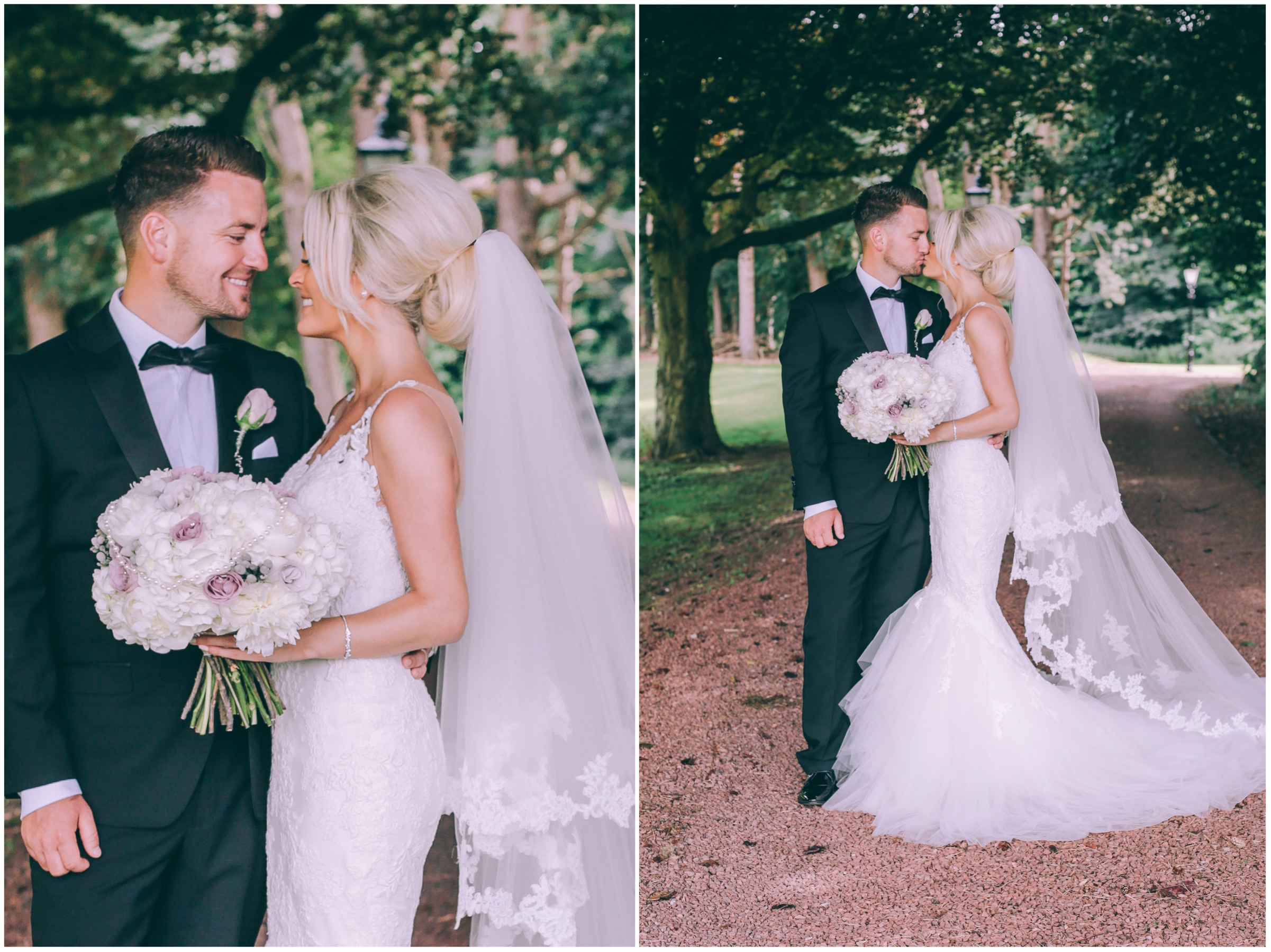 Wedding couple outside photography
