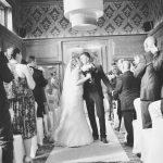 black and white wedding at Abbey House