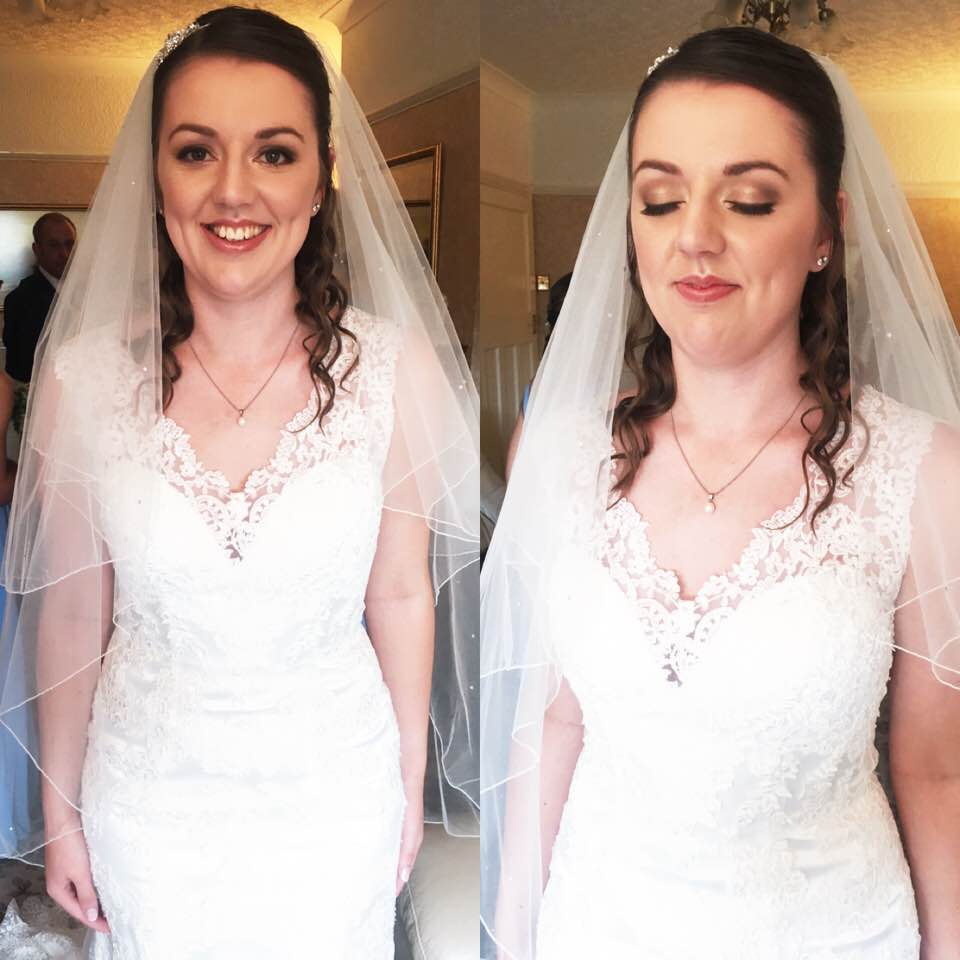Bride after make up and hair