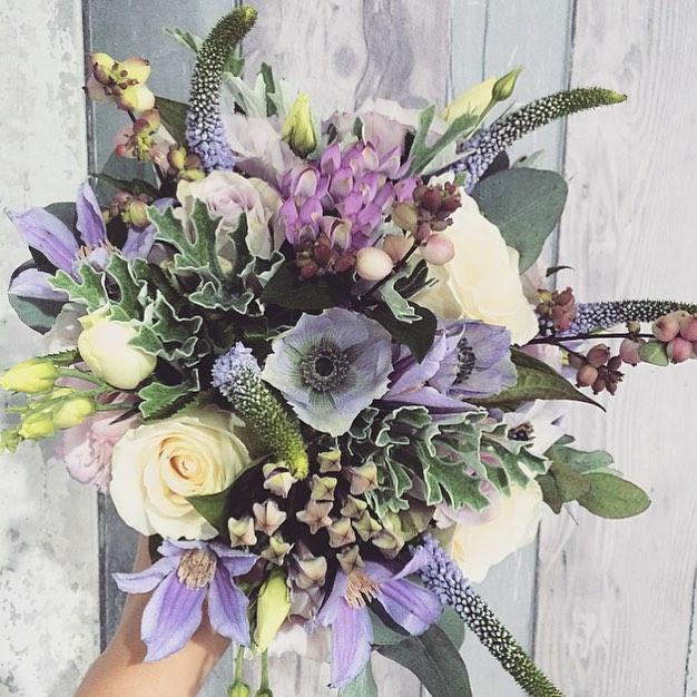 dusky silver bouquet