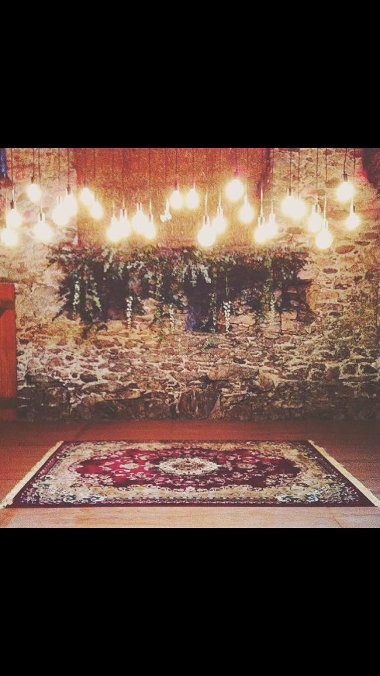 lighting with area rug