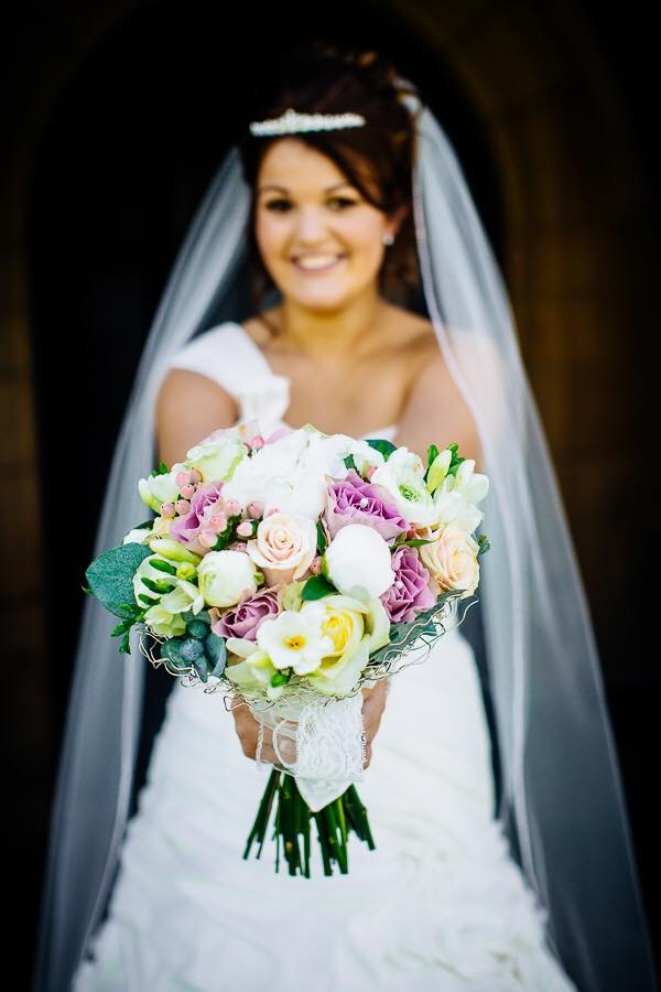 In focus wedding bouquet