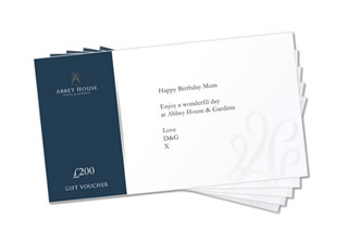 Gift Vouchers at Abbey House Graphic