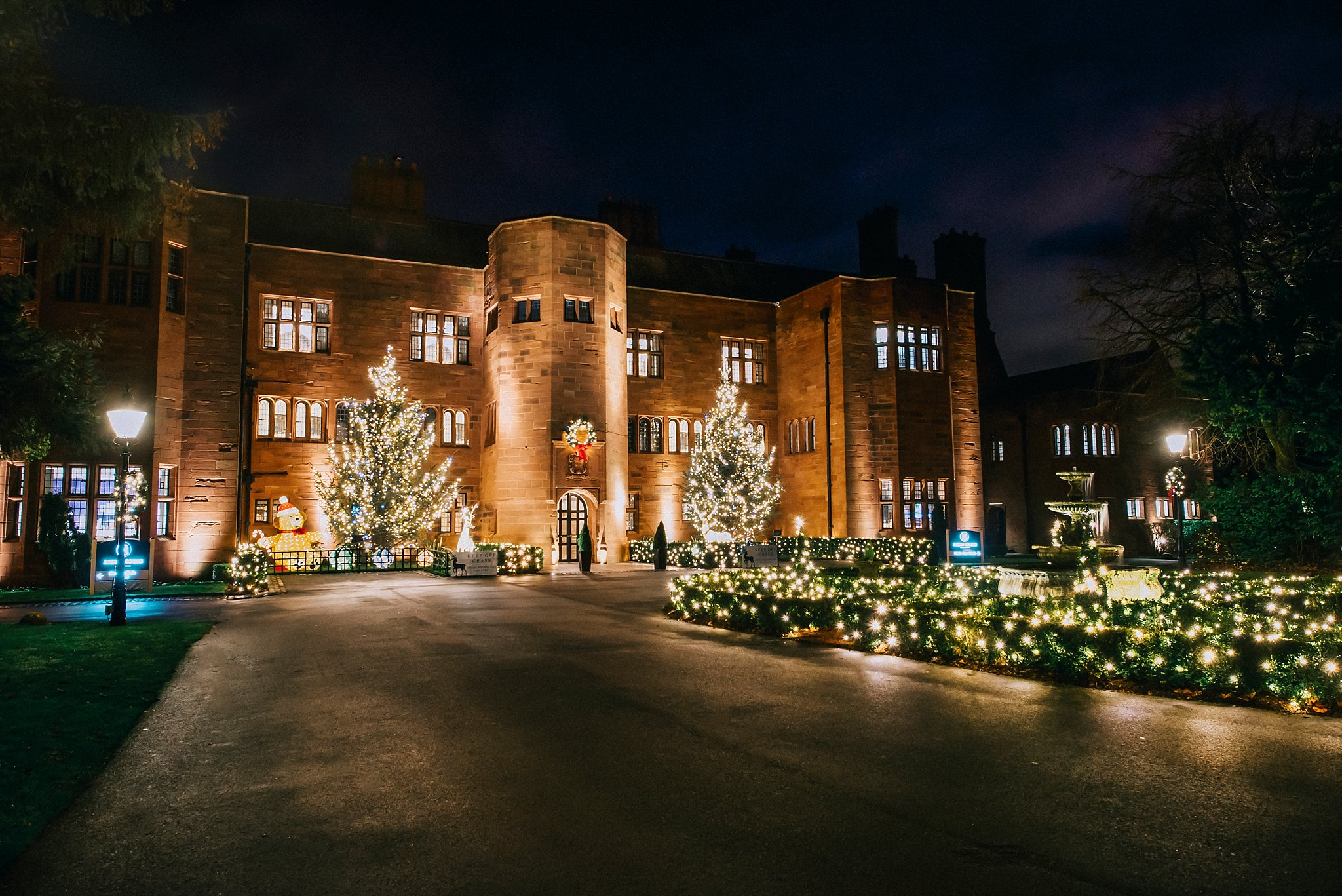 Abbey house hotel Christmas lights