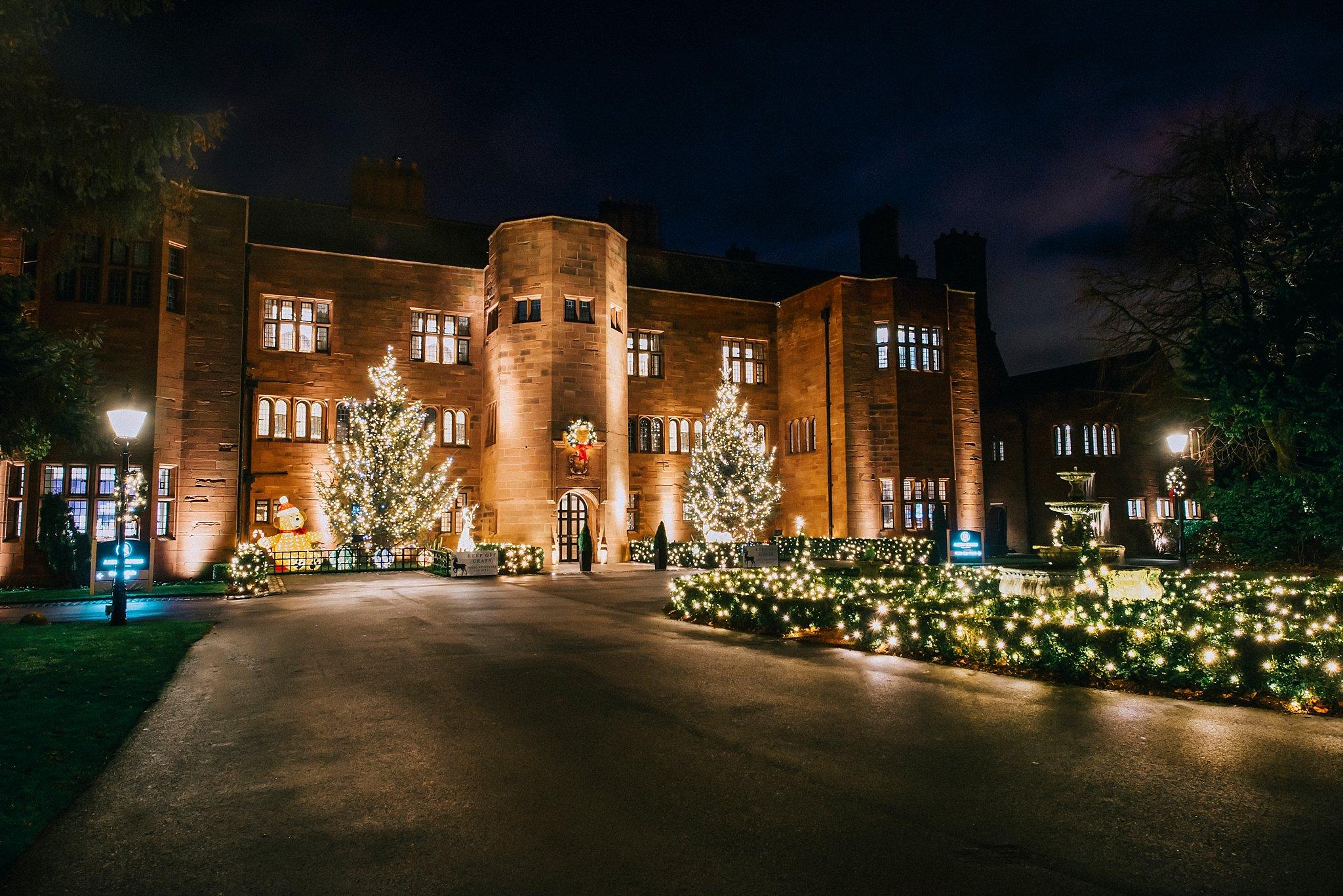 Abbey house hotel Christmas lights