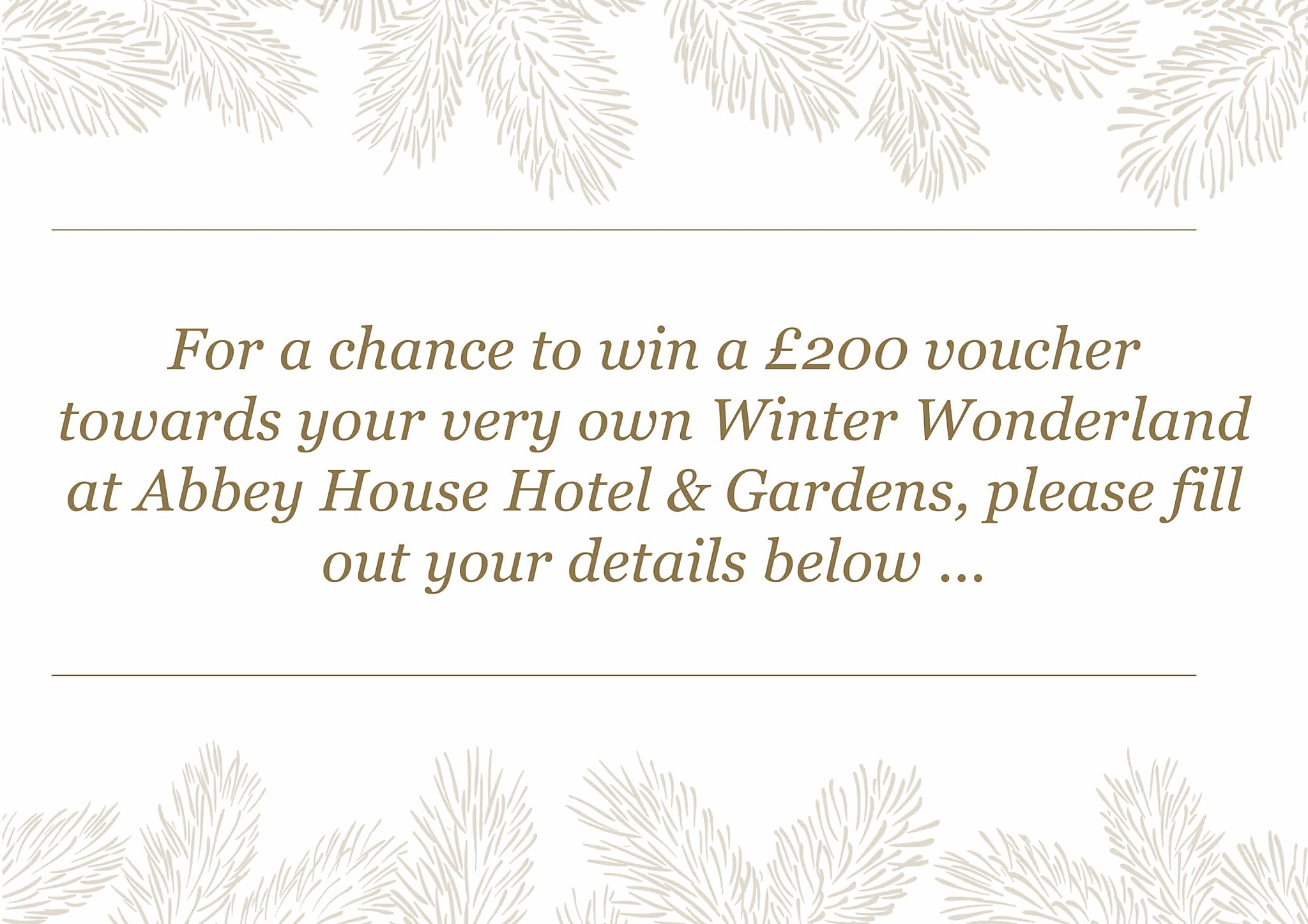 £200 chance to win