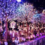 Illuminated nature floral table display